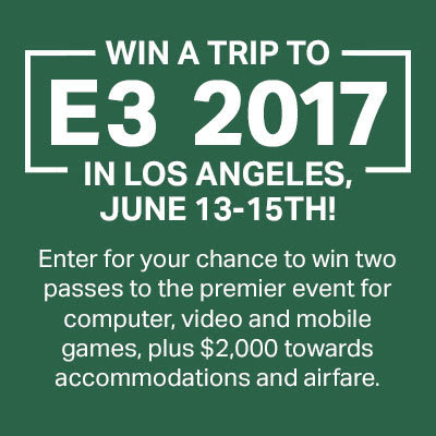 Enter for a Chance to Win a Trip to E3 2017!