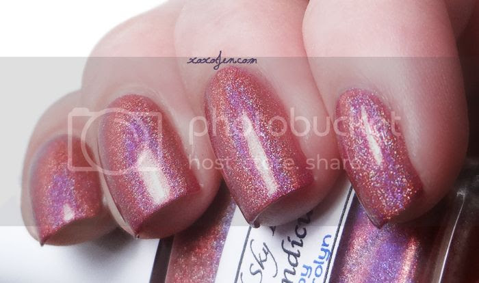 xoxoJen's swatch of Liquid Sky Lacquer Tripindicular