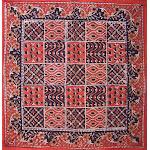"Kalamkari Block Print Cotton Table Napkin 20"" x 20"" Red"