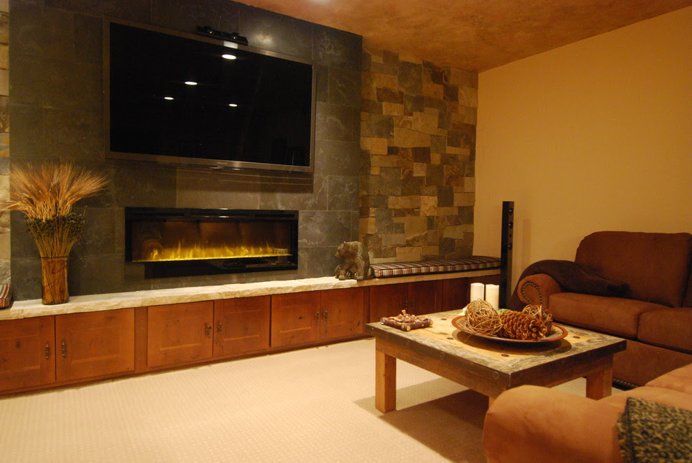 Beautiful dimplex fireplace Inspiration for Living Room Modern