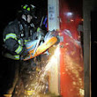 Stamford firefighters drill in condemned building