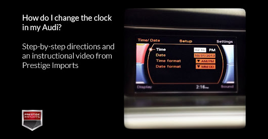 How do I change the clock in my Audi? Step-by-step directions and a video