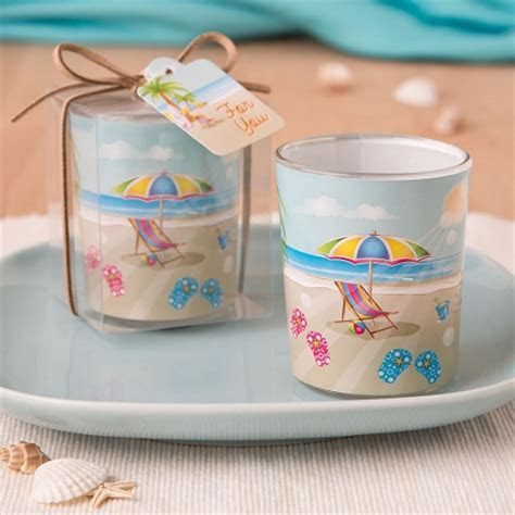 Beach Motif Candle Holder   Beach Party Favors   Beach