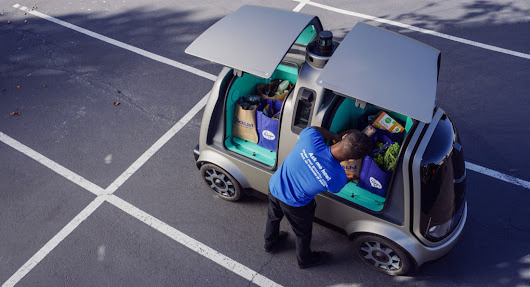 You Can Now Have Your Groceries Or Dry Cleaning Delivered To You By An Autonomous Vehicle | Carscoops