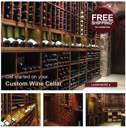 Build Your Wine Cellar and Receive Free Shipping on Custom Wine Racks*