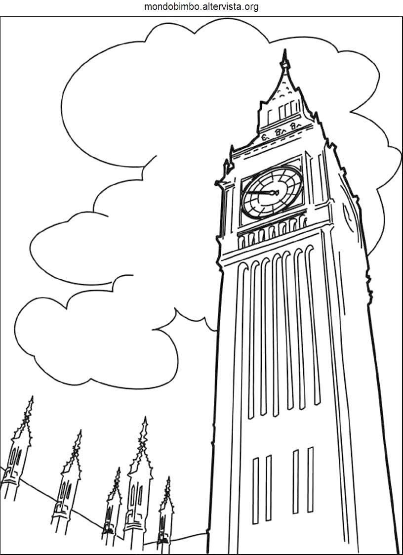 Big Ben Da Colorare Mondo Bimbo