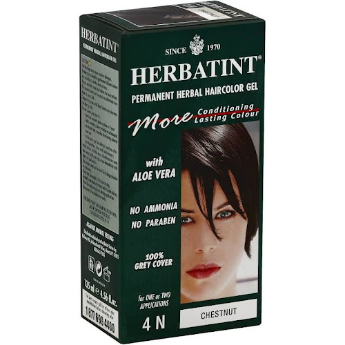 Herbatint Permanent Herbal Haircolor Gel, Chestnut 4N - 1 kit, 4.56 fl oz