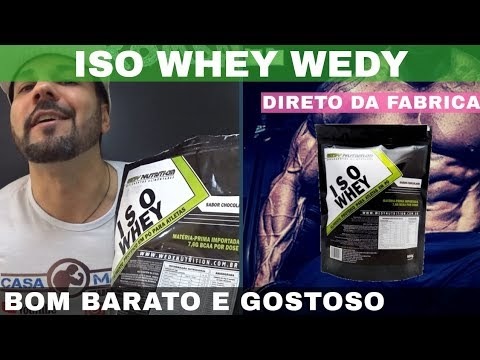 WHEY ISOLADO WEDY NUTRITION ISO WHEY O Whey Isolado Bom Barato e Gostoso Direto do Fabricante