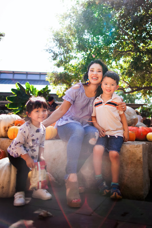 Pumpkin Patchin' at Pumpkin Village - cute & little | Dallas Petite Fashion Blogger