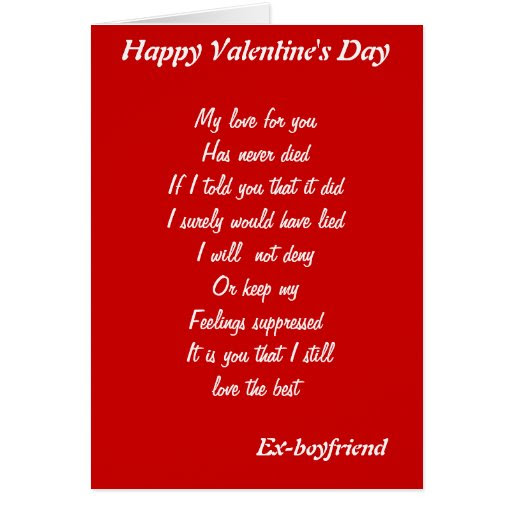 What To Write In A Valentines Card For Your Ex Boyfriend I Want My