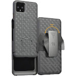 Pixel 4 XL Case with Clip, Nakedcellphone [Black Tread] Kickstand Cover with [Rotating/Ratchet] Belt Hip Holster for Google Pixel 4 XL Phone (2019)