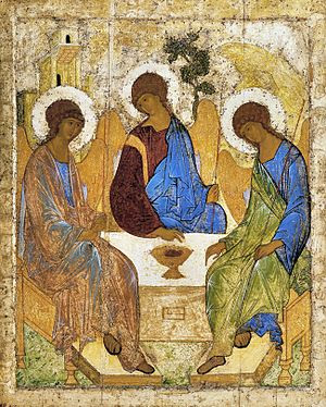 Icon of the Holy Trinity, by Andrei Rublev