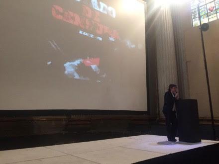 """Aristegui durante la presentación del informe """"Estado de Censura"""". Foto: Artículo 19"""