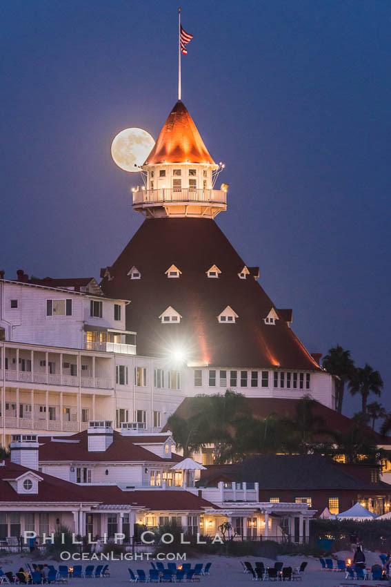 full moon over hotel del coronado sunset san diego picture 29421 16309
