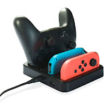 Achoro Multi functional Charging Station Dock Compatible Nintendo Switch Joy-con and Pro Controller