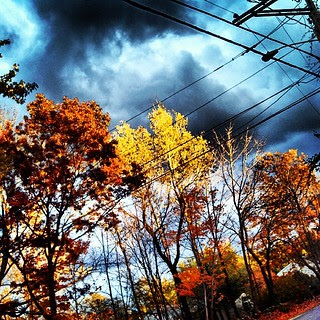 #sunset #stormy #sky #newhampshire #foliage #fall #leaves #clouds