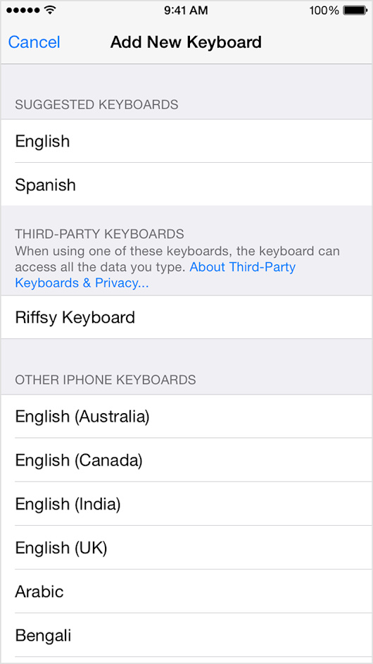 Use third-party keyboards on your iPhone or iPad  - Apple Support