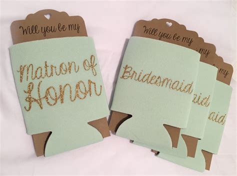 bridesmaid proposal  cooler mint     maid