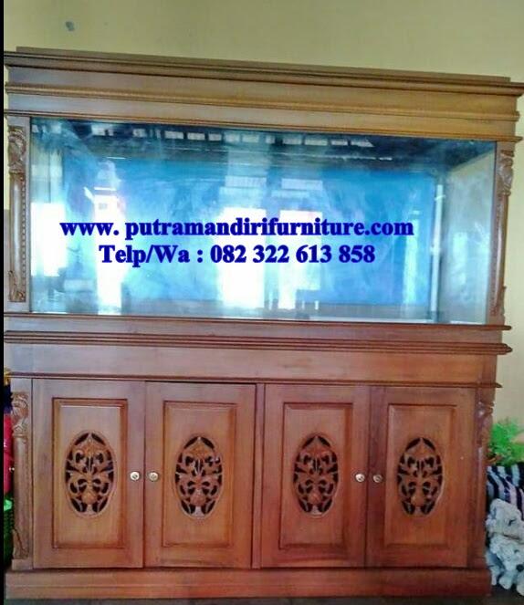 Aquarium Hias Ikan Cupang Desain Model Furniture Jepara Terbaru
