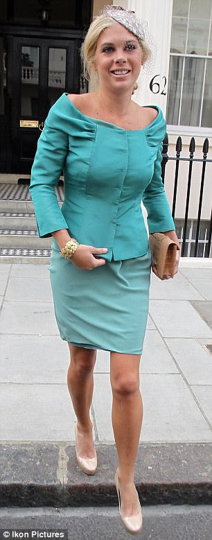 Chelsy Davy leaving her house for the wedding of Prince William and Catherine Middleton