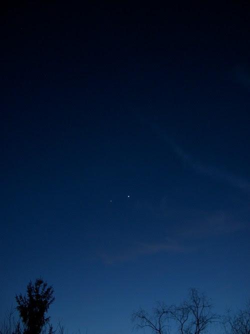 Convergence of Venus and Jupiter