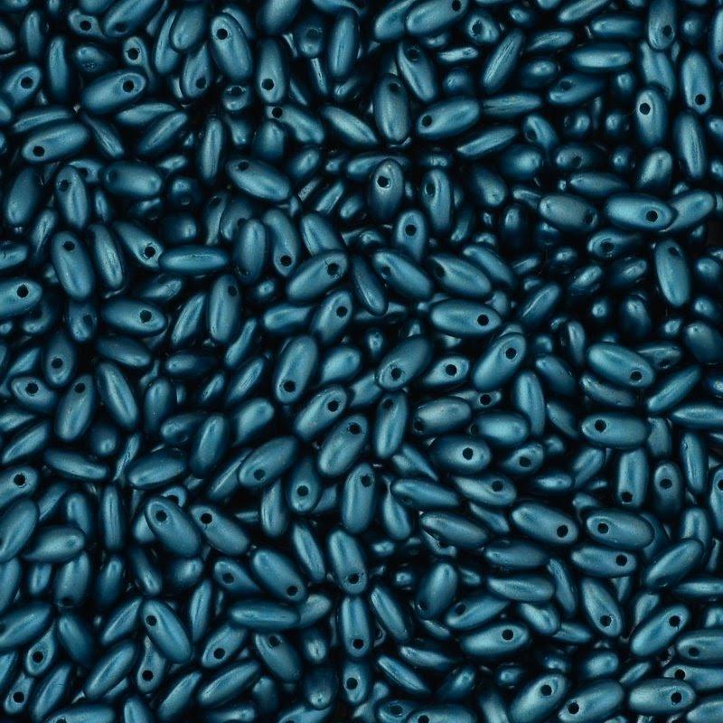 s45063 Czech Seedbeads -  Rizos - Pastel Petrol Teal