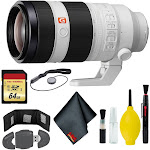 Sony FE 100-400mm f/4.5-5.6 GM OSS Lens - Reader - 64GB - Cap Keep