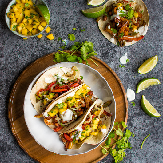 One Tray Tacos with Fresh Mango Salsa | Lauren Caris Cooks