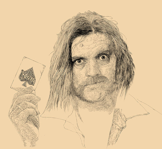 Lemmy Kilmister Drawing - Ace Of Spades - work in progress