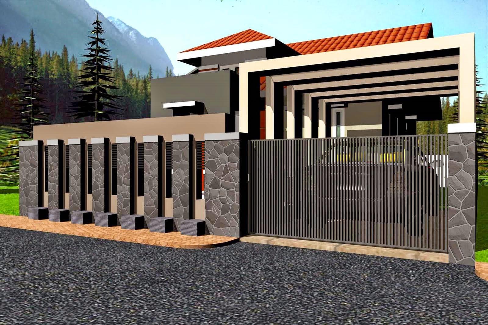 Kumpulan Desain Pagar Rumah Minimalis Bali Kumpulan Desain Rumah