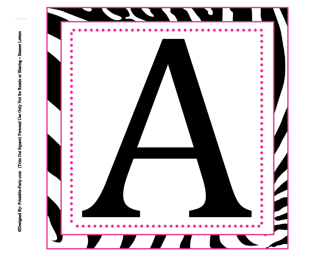 8x8 Inch Large Square Printable Alphabet Letters   Printable ...