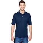 Hanes 4800 Men's 4 oz. Cool Dri with Fresh IQ Polo Shirt in Navy Blue