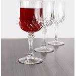 Crystal like 8oz. plastic wine glasses, 4ct. | Party Source