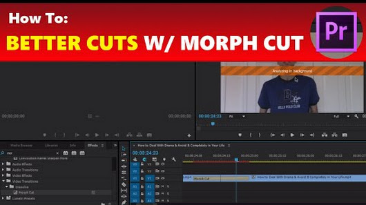 How To: Use Morph Cut for Better & Unnoticeable Jump Cut Transitions ...