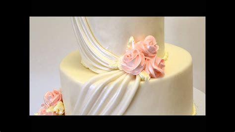 Peach Theme Wedding Cake  Two tier Wedding Cake   YouTube