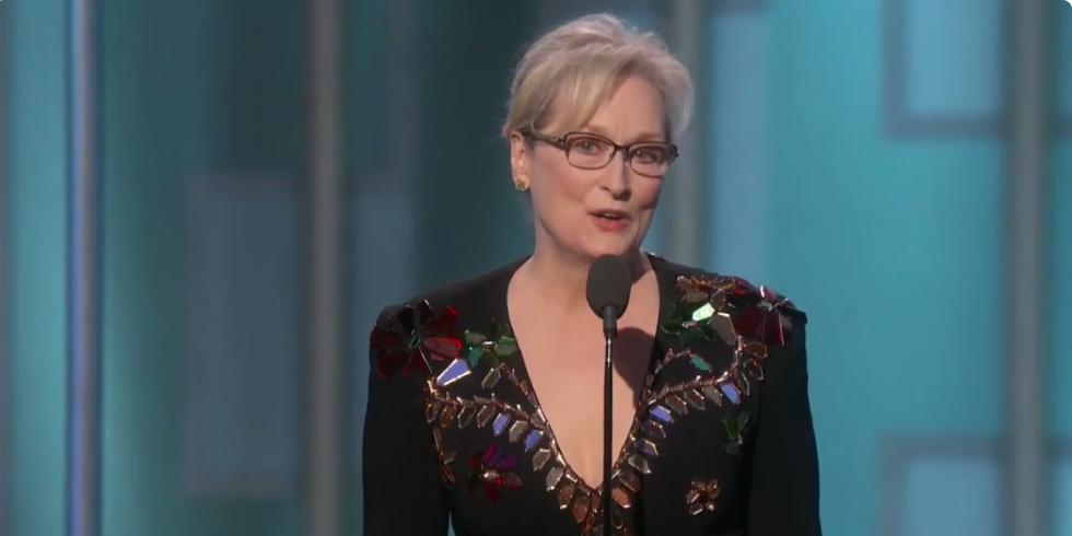 Image result for Meryl Streep golden globe