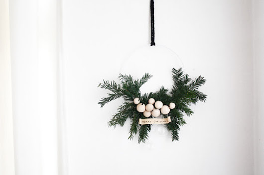 How to Make a Beautifully Simple Fir Wreath