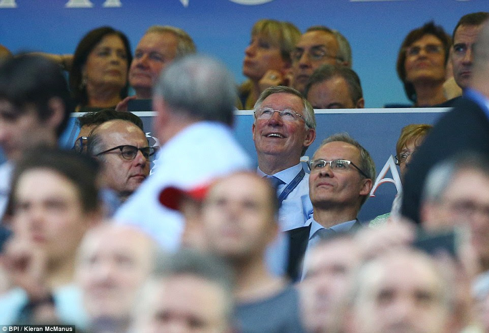 Former Manchester United manager Sir Alex Ferguson - a winner of this competition on two occasions - was among the stars in the stands