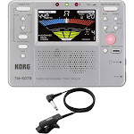 Korg TM50TR-SL Tone Trainer Metronome Silver Tuner with CM-200 Clip-On Mic