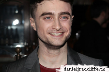 Daniel Radcliffe at The Cripple of Inishmaan press night - after party