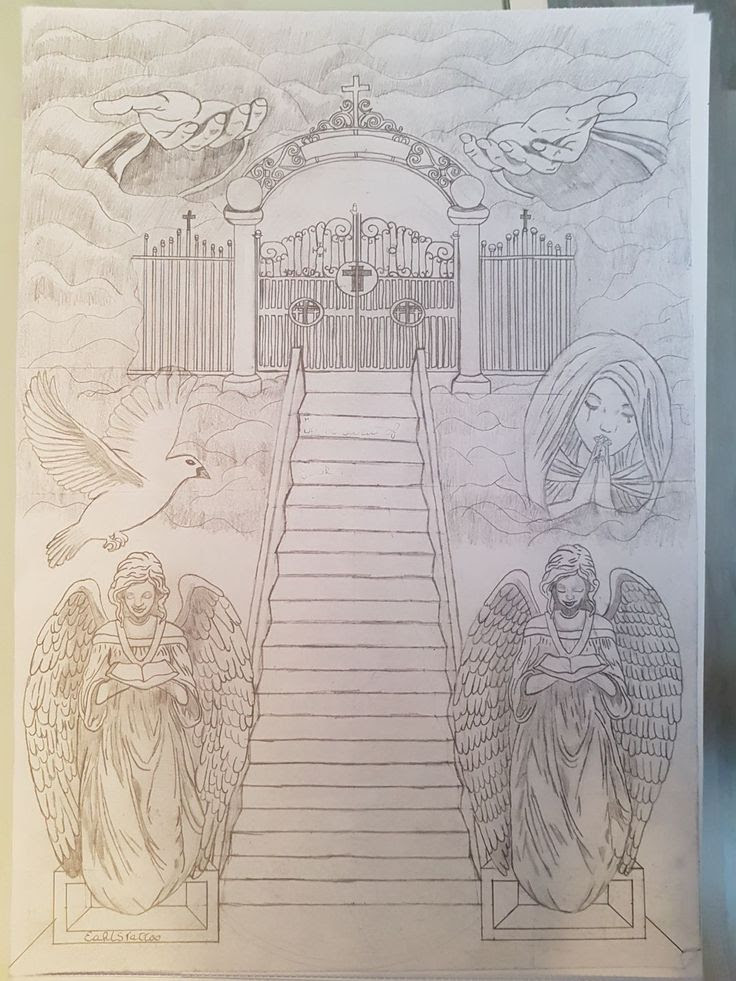 Stairway To Heaven Drawing At Getdrawingscom Free For Personal