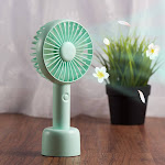 Insten Small Portable Handheld Fan Aroma Cooling Fan Battery Operated USB Rechargeable with Desk Stand Base 3-Speed Mode for Traveling Home Office