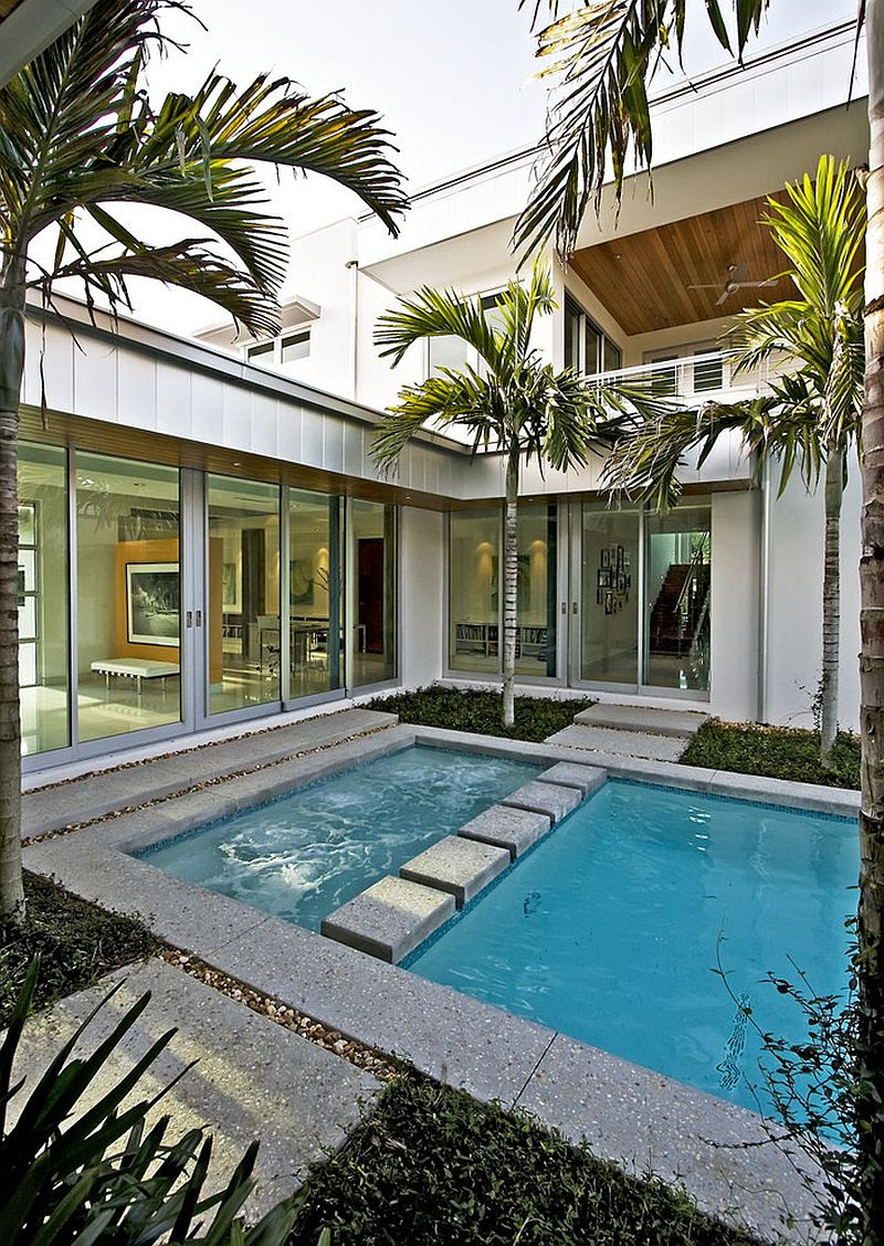 small modern house with pool Zion Star