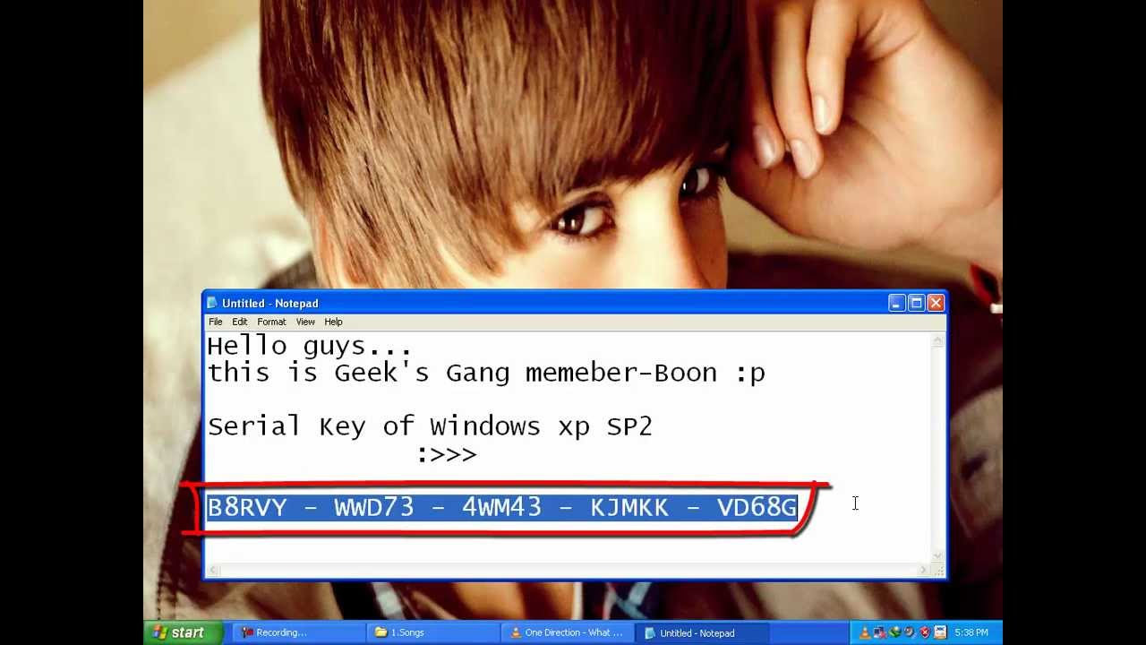 Windows XP Professional Serial Key - 100% Working ★ - YouTube