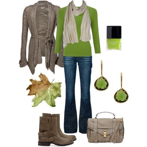 Comfy Green Fall Outfit (girls,dress,girl,fashion,style,clothes,polyvore,our picks)