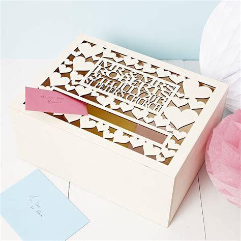 personalised wedding post box by sophia victoria joy