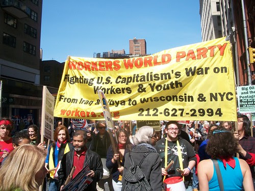 Thousands marched down Broadway in Lower Manhattan for the national anti-war demonstration on April 9, 2011. The march and rally called for the end of wars across the world. (Photo: Abayomi Azikiwe) by Pan-African News Wire File Photos