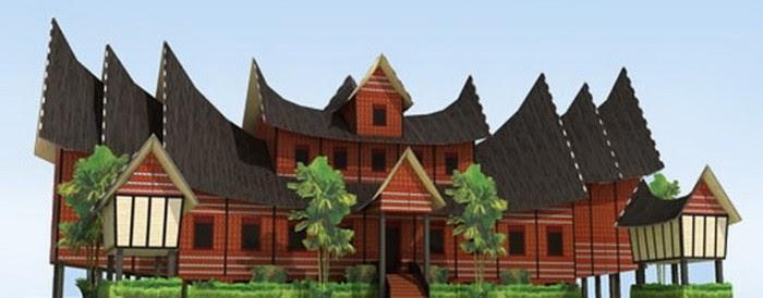 cvotelblogdecvt: Contoh Miniatur Rumah Adat Minangkabau