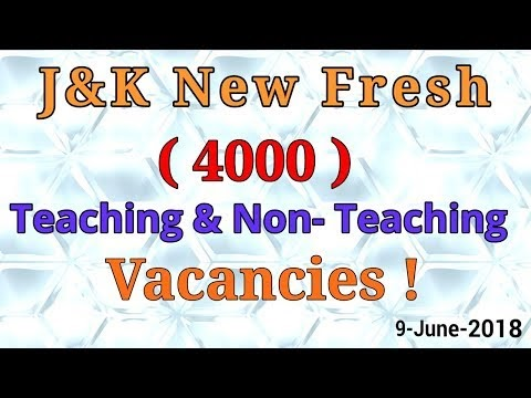 New Fresh 4000  Teaching & Non-Teaching Vacancies