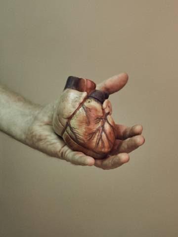 Réplica de un corazón.